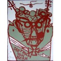Jonathan Meese, Farbholzdruck, 2005, signiert